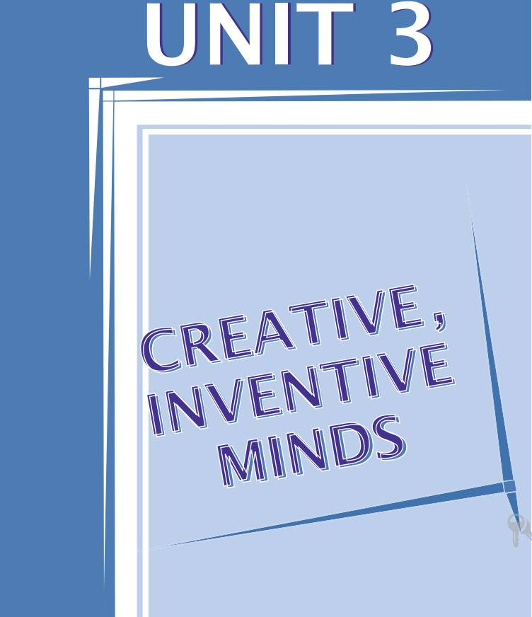 Anglais Essay Unit 3 Creative Inventive Minds Bac 2017
